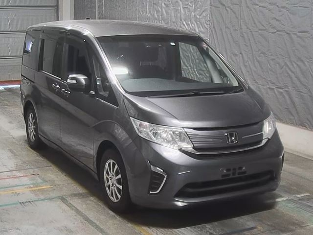 HONDA STEP WAGON 2017 серый DBA-RP1